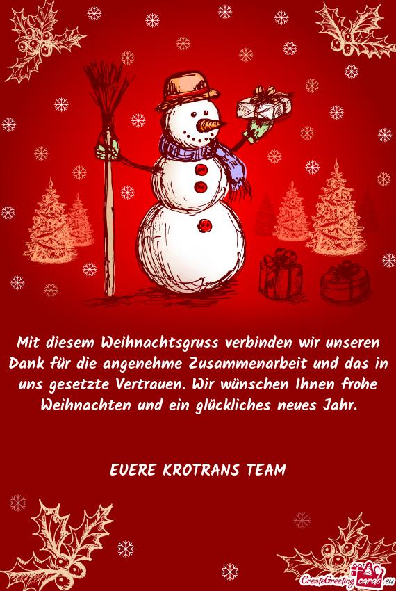 Ns gesetzte Vertrauen. Wir wünschen Ihnen frohe Weihnachten und ein ...