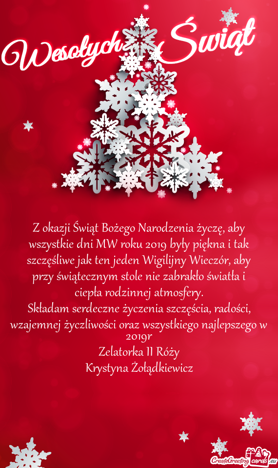 Z Okazji świąt Bożego Narodzenia życzę Aby Wszystkie Dni Mw Roku